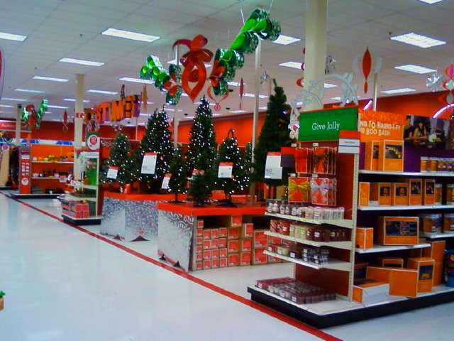 The holiday section at Target
