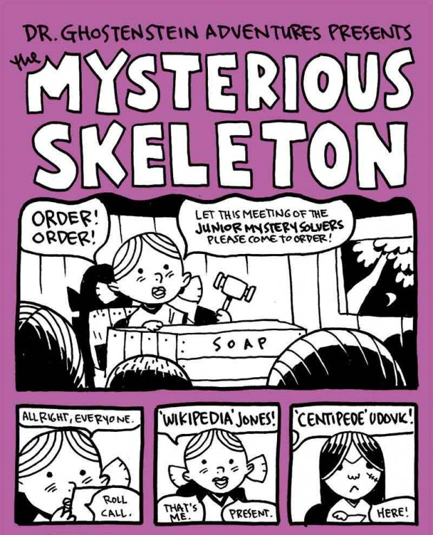 """The Mysterious Skeleton"" page 1 by Zander Cannon"